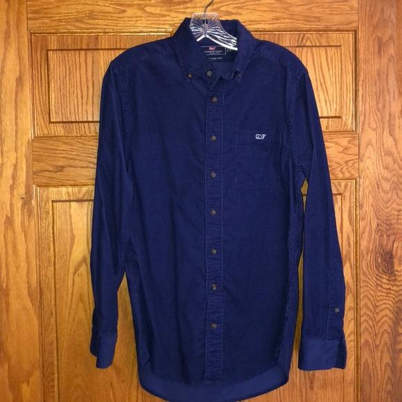 Vineyard Vines Other - Vineyard Vines Blue Corduroy Slim Fit Tucker Shirt